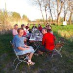 Gruppenbild am Teich